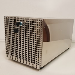 Dessecador em aço inox CMS Científica com chave e porta vazada