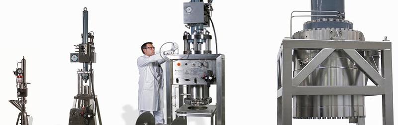 cromatografia líquida preparativa - Colunas de preparacao do DAC do Novasep