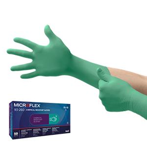 Luva para proteção química com 3 camadas para proteção superior contra produtos químicos agressivos